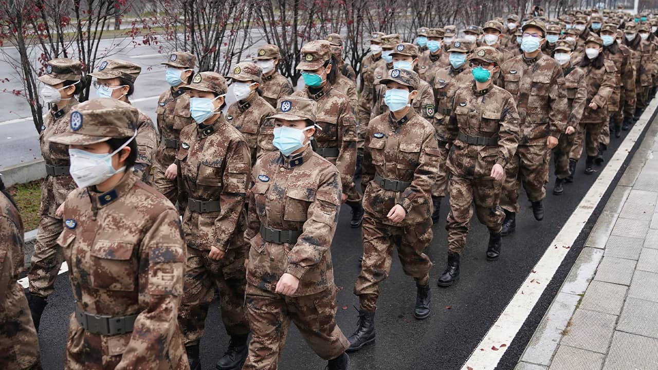 Photo of members of a military medical team