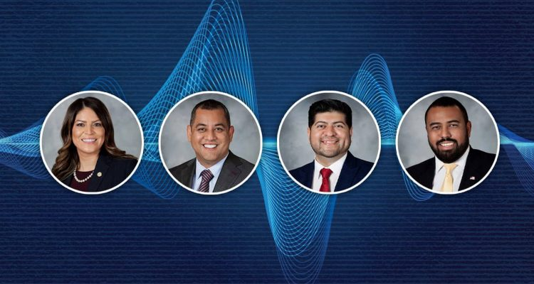 Image of Fresno City Councilmembers Esmeralda Soria, Miguel Arias, Luis Chavez and Nelson Esparza