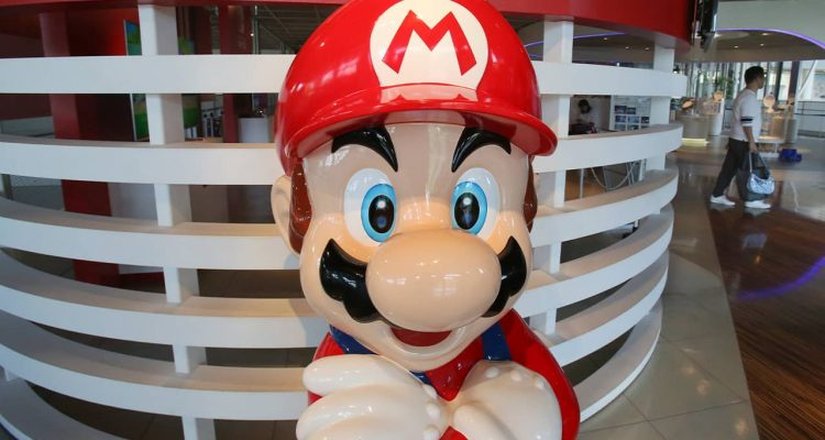 Photo of a Super Mario figure