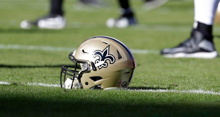 Photo of a New Orleans Saints helmet