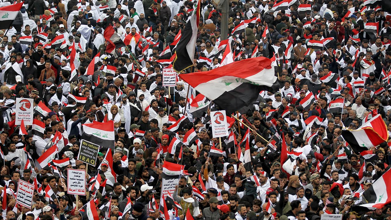 Photo of Iraqi protesters