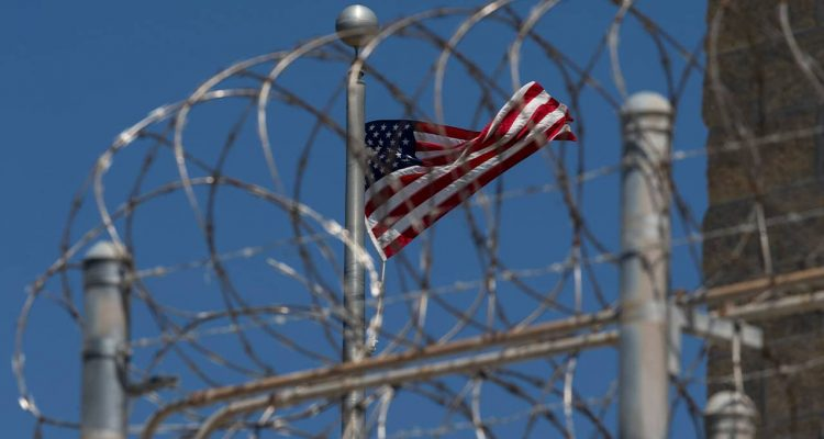 Photo of an American flag at Guantanamo Bay, Cuba