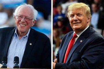 Photo combination of Bernie Sanders and Donald Trump