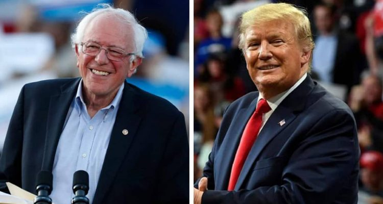 Photo combination of Bernie Sanders and Donald Trump