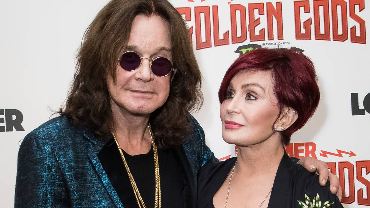 Photo of Ozzy Osbourne, left, and his wife Sharon Osbourne