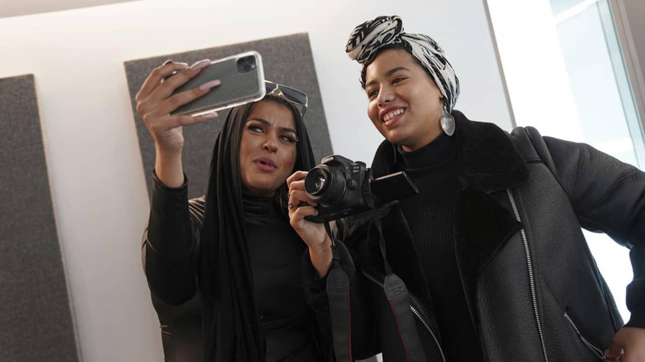 Photo of Amani Al-Khatahtbeh and Maryam Saad