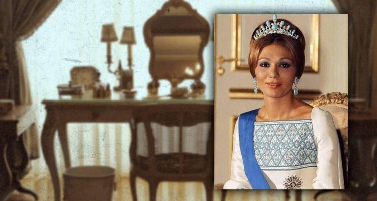 Photo of Farah Pahlavi and her vanity