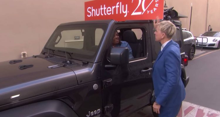 Fresno State's Travis Morris receives a 2020 Jeep on the Ellen DeGeneres Show