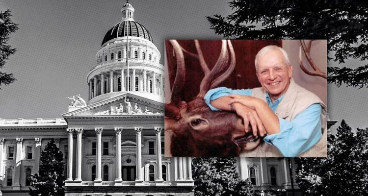 "Photo combination of the California Capitol and ""Wild Bill"" Richardson"