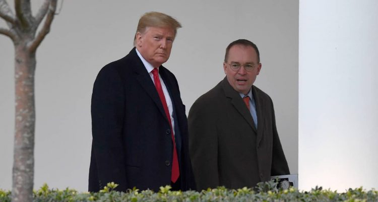 Photo of President Donald Trump and Mick Mulvaney