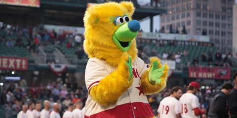 Photo of Parker, the Fresno Grizzlies mascot