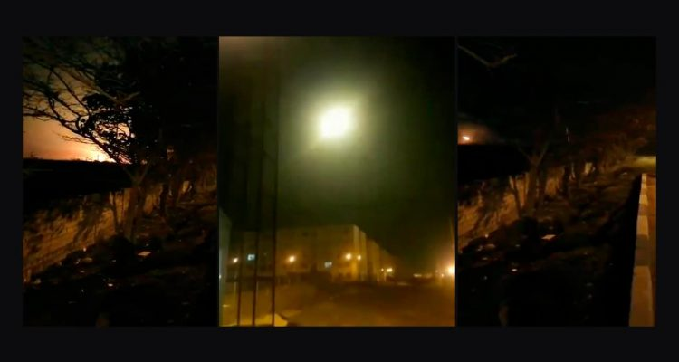 Photo of images from a video of the Ukrainian plane crash in Iran