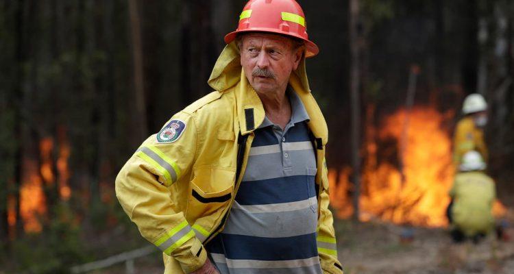 Photo of Doug Schutz, the Tomerong Rural Fire Service Captain
