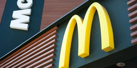 A photo of McDonald's golden arches