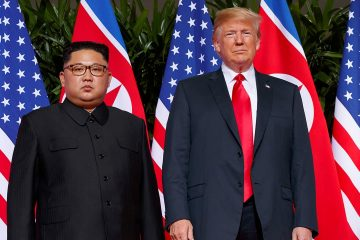 Photo of Kim Jong Un and President Donald Trump