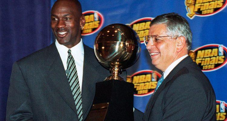 Photo of Michael Jordan and David Stern
