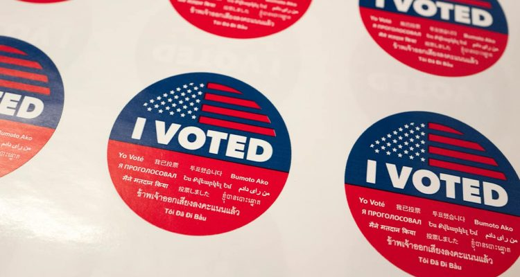 "Photo of ""I Voted"" stickers"