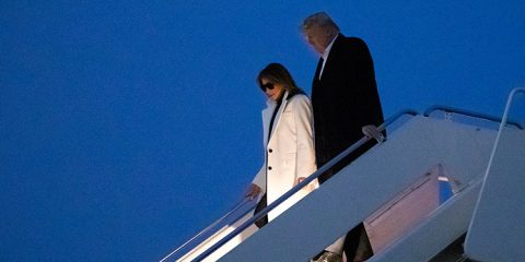Photo of Melania and Donald Trump