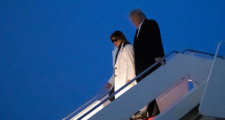 Photo of Melania and Donald Trump