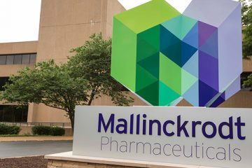 Photo of the exterior of the Mallinckrodt Pharmaceuticals office