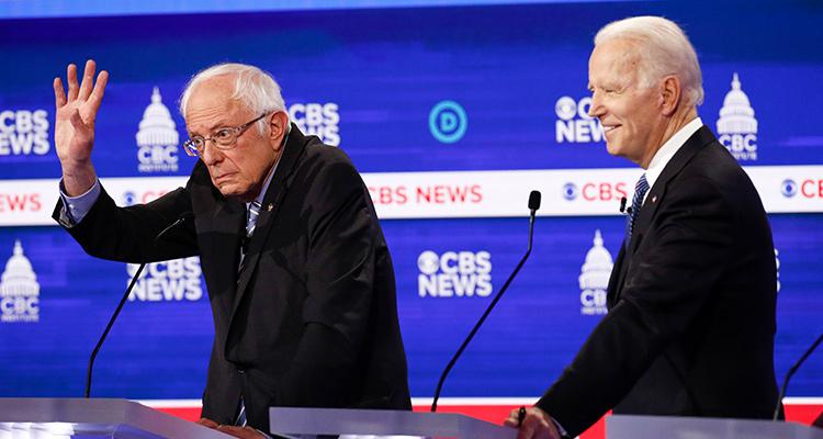 Photo of Bernie Sanders and Joe Biden