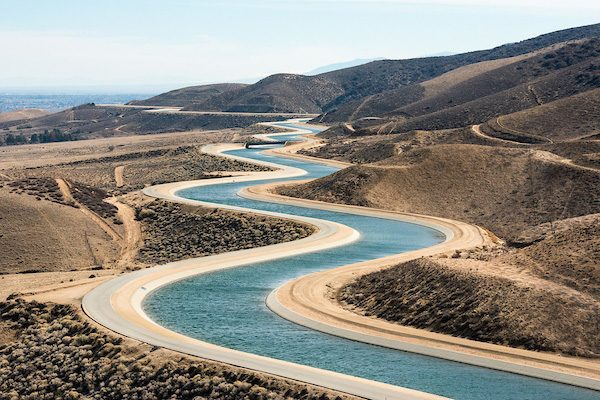 Photo of the California Aqueduct in Palmdale
