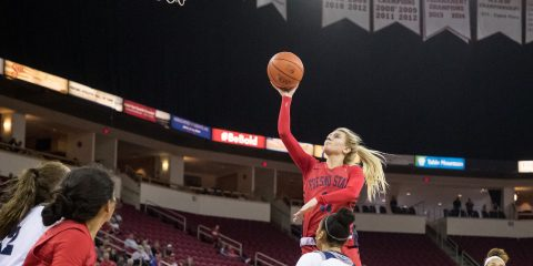 Photo of Fresno State women's basketball standout Maddi Utti