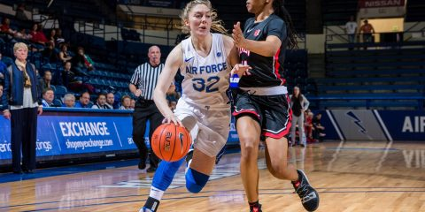 Photo of Air Force junior basketball guard Kaelin Immel