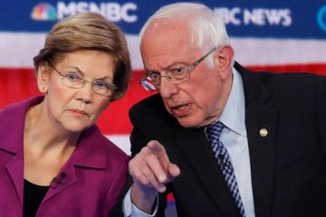 Photo of Elizabeth Warren and Bernie Sanders
