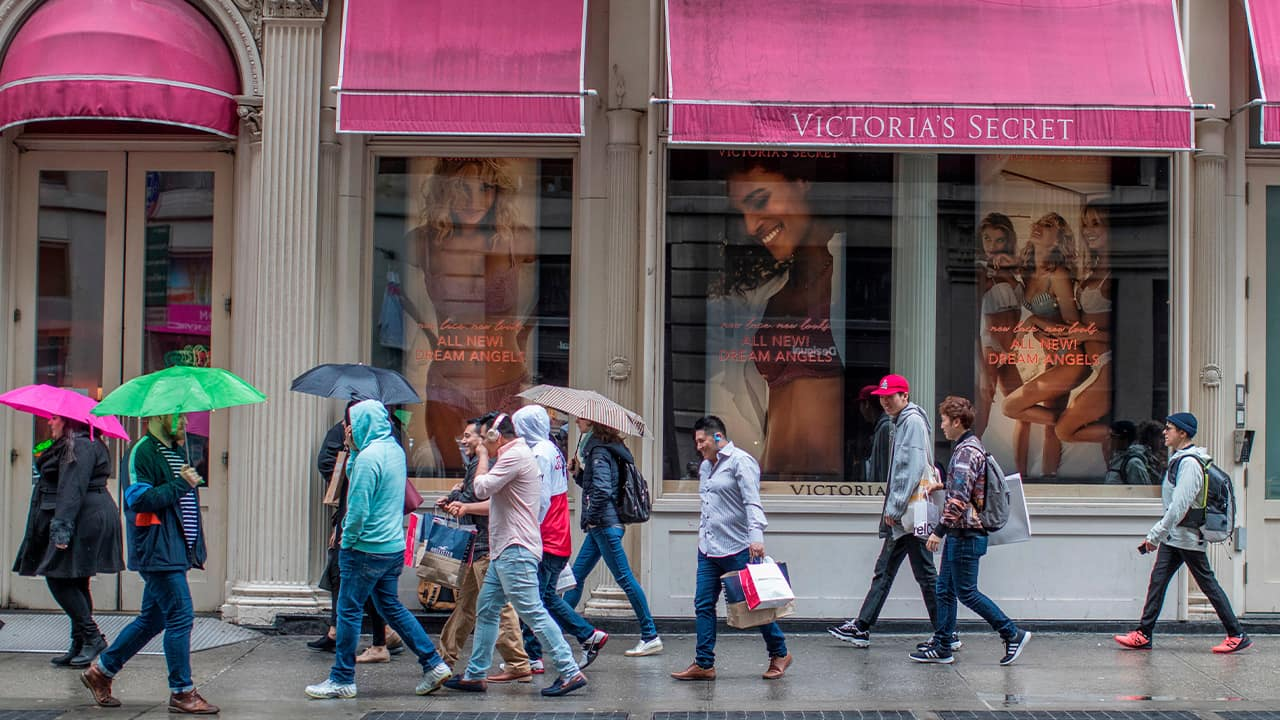 Photo of a Victoria's Secret store on Broadway in the Soho neighborhood of New York