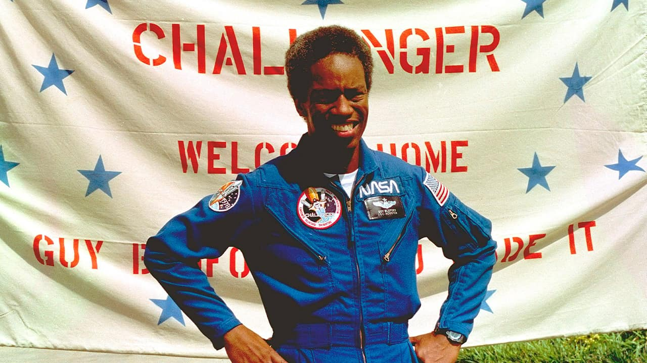 Photo of Guion Bluford, Jr., shuttle Challenger mission specialist in 1983