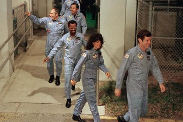 Photo of the crew for the Space Shuttle Challenger flight 51-L