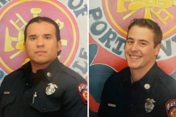 Photo of firefighter Patrick Jones and Capt. Raymond Figueroa