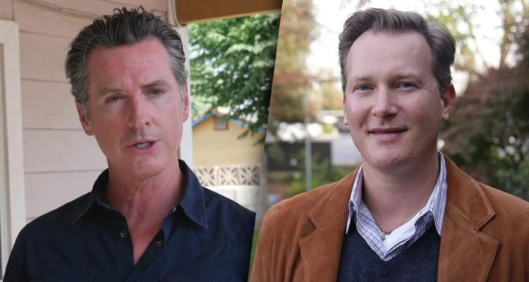 Photo combination of Gov. Gavin Newsom and Sen. Andreas Borgeas
