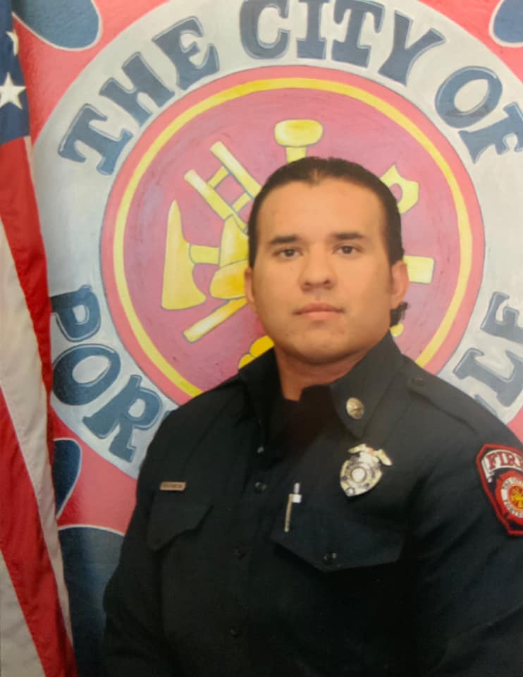 Portrait of Porterville Fire Capt. Raymond Figueroa