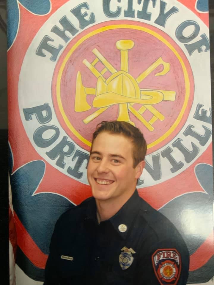 Portrait of Porterville firefighter Patrick Jones