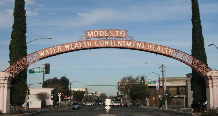 Photo of a Modesto sign