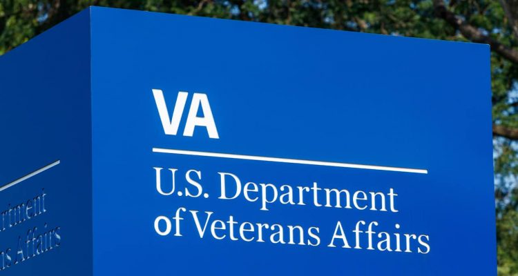 Photo of a U.S. Department of Veterans Affair sign