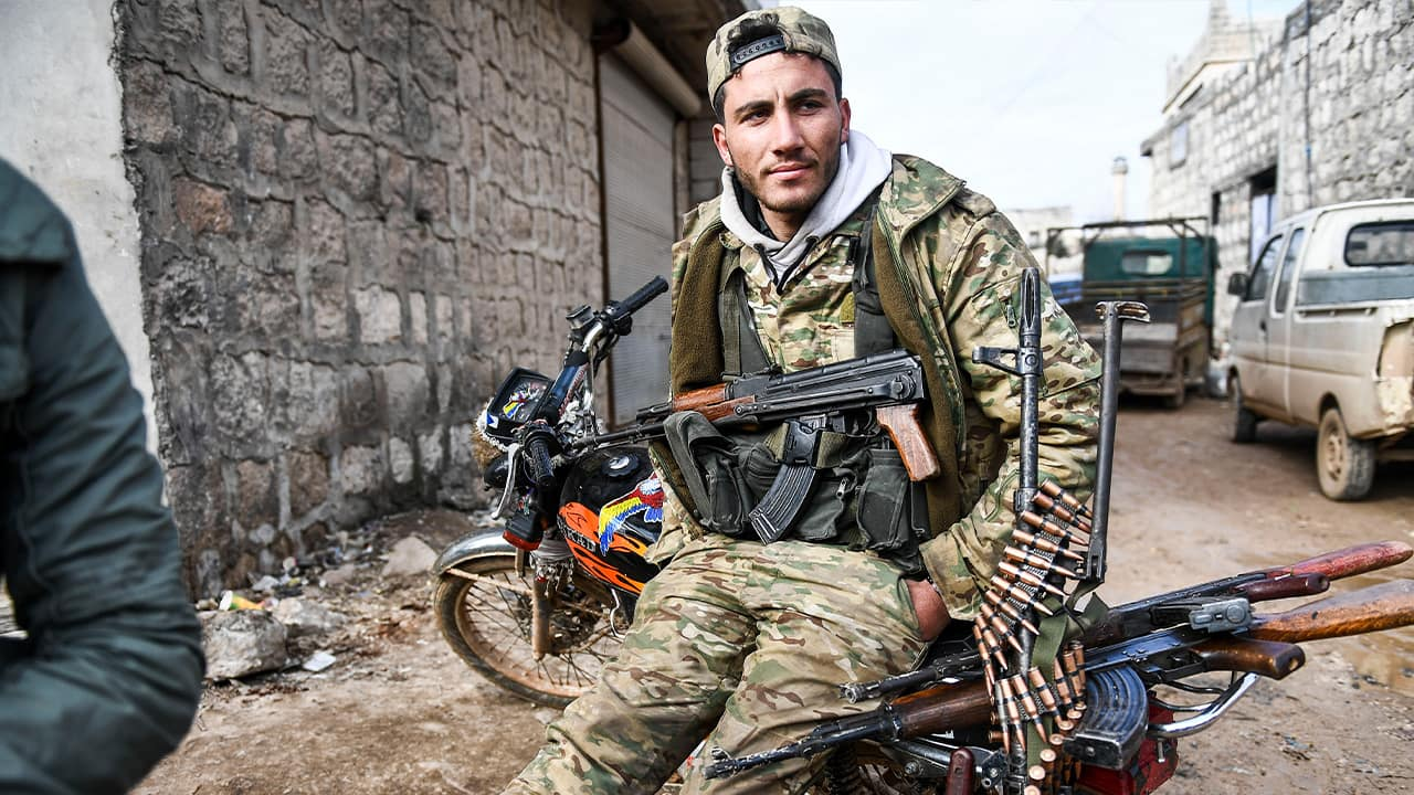 Photo of a Syrian rebel