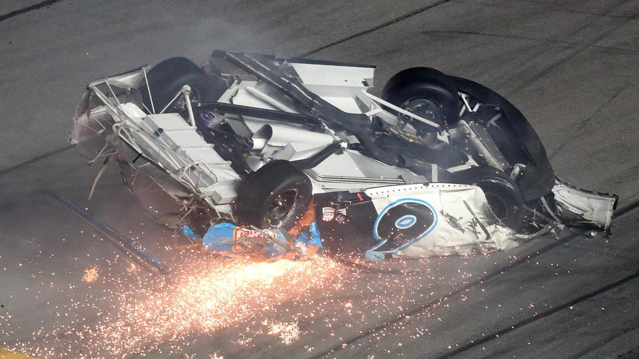 Photo of Ryan Newman NASCAR crash