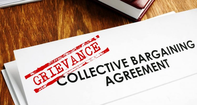 Photo illustration of a grievance document