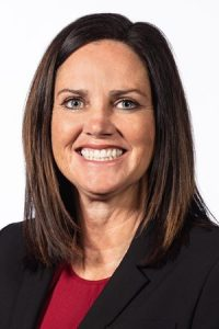 Portrait of Fresno State women's basketball coach Jaime White