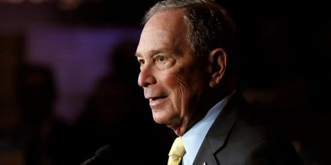 Photo of Democratic presidential contender Michael Bloomberg