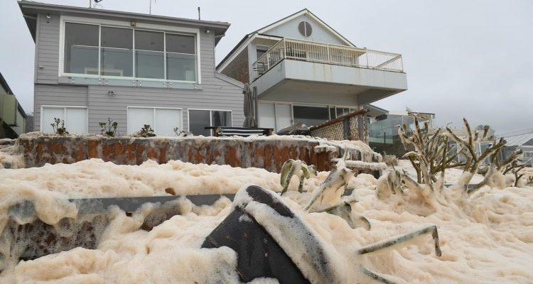 Photo of sea foam in Australia