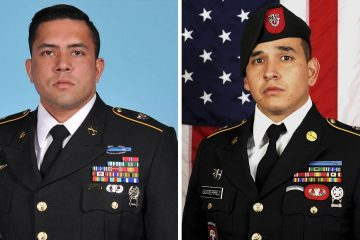 Photo of Sgt. 1st Class Antonio R. Rodriguez and Sgt. 1st Class Javier J. Gutierrez