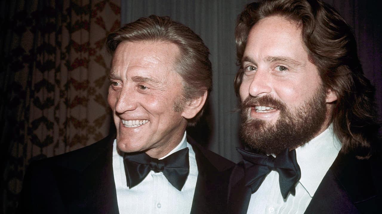 Photo of Kirk and Michael Douglas
