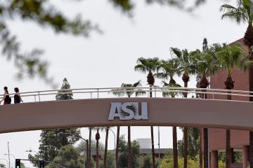 Photo of a bridge on the campus of Arizona State University