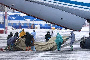 Photo of medical workers preparing to meet 80 people in Russia