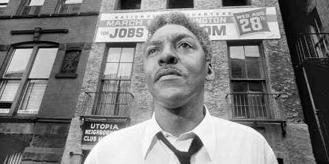 Photo of Bayard Rustin, leader of the March on Washington in 1963