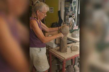 Photo of Valley sculptor Margaret Hudson